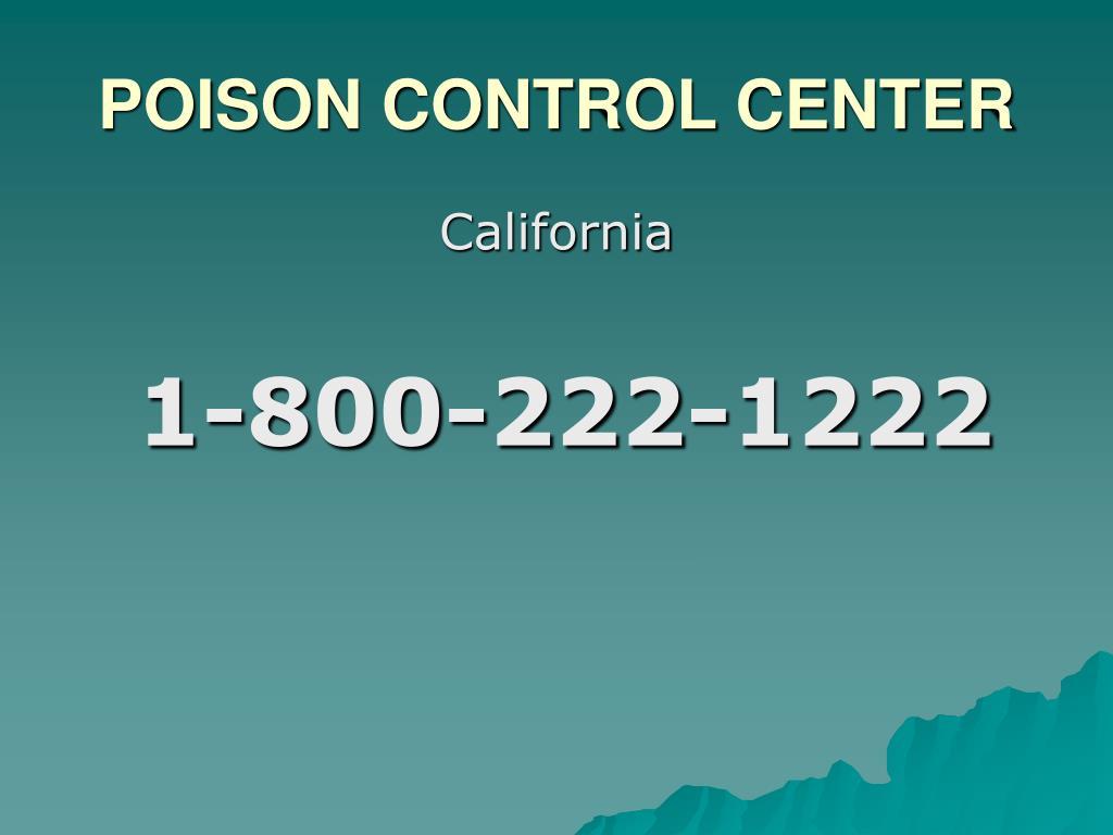 POISON CONTROL CENTER