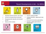 recent developments in aid the mdgs