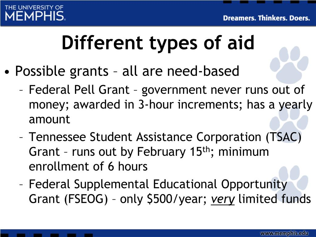 Different types of aid