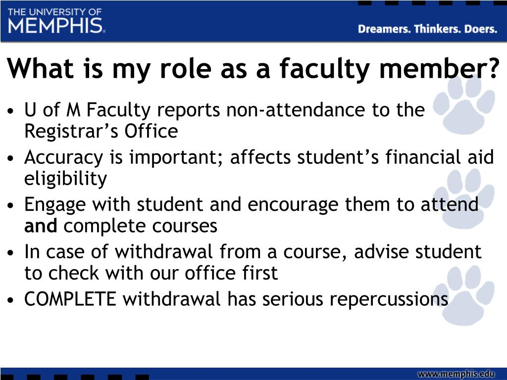 What is my role as a faculty member?