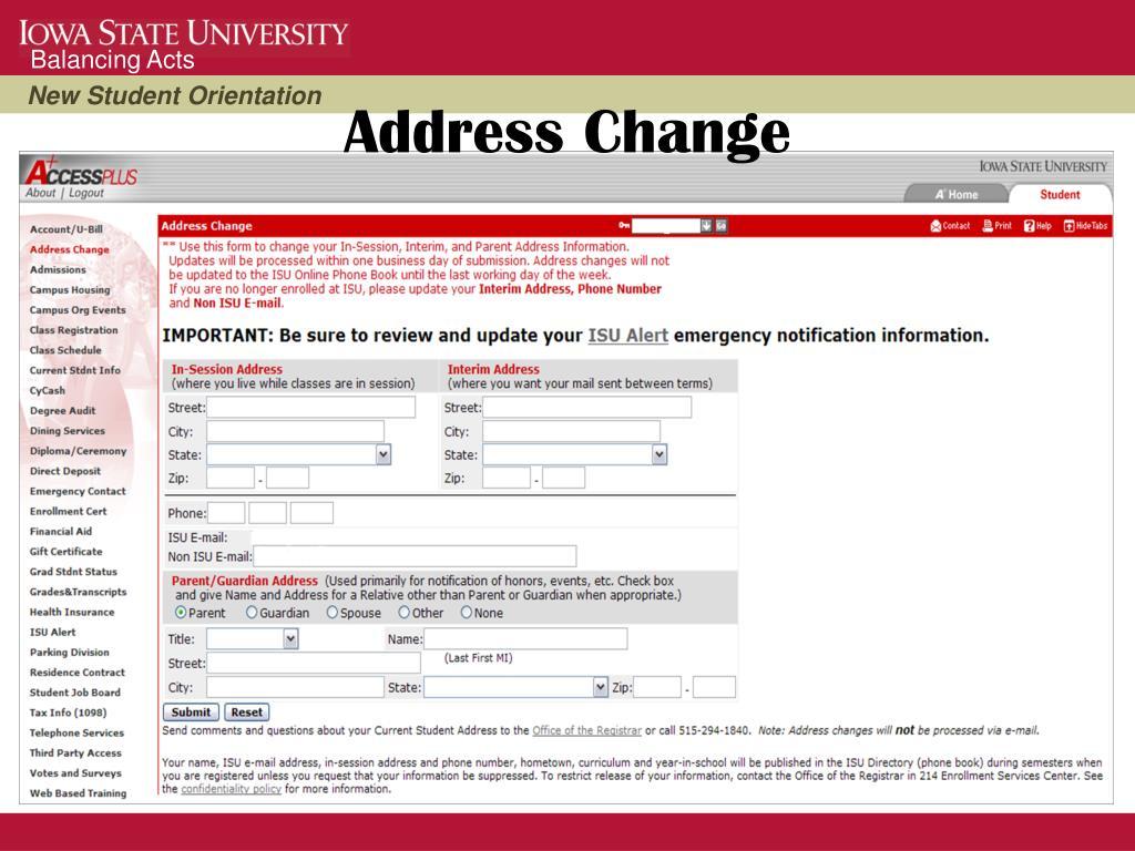 Address Change