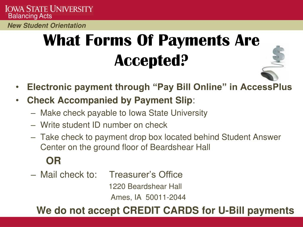 What Forms Of Payments Are Accepted?
