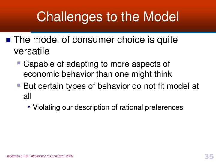 Challenges to the Model