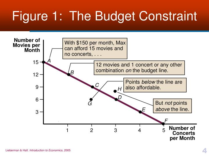 Figure 1:  The Budget Constraint