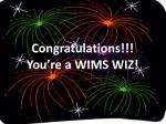 congratulations you re a wims wiz