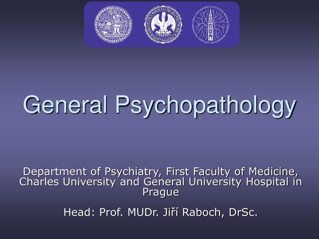 general psychopathology l.