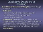 qualitative disorders of thinking