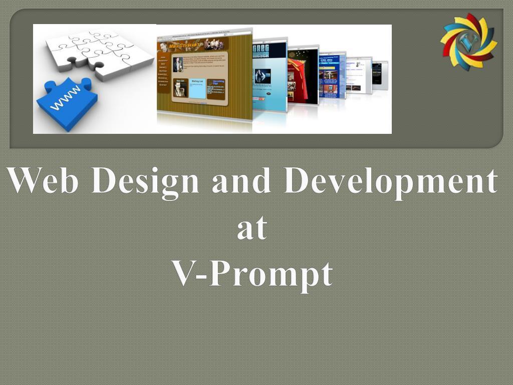 web design and development at v prompt l.