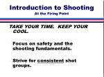 introduction to shooting at the firing point