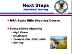 next steps additional training
