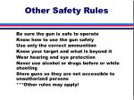 other safety rules