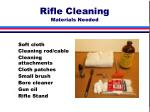 rifle cleaning materials needed