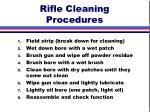 rifle cleaning procedures