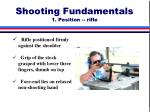 shooting fundamentals 1 position rifle