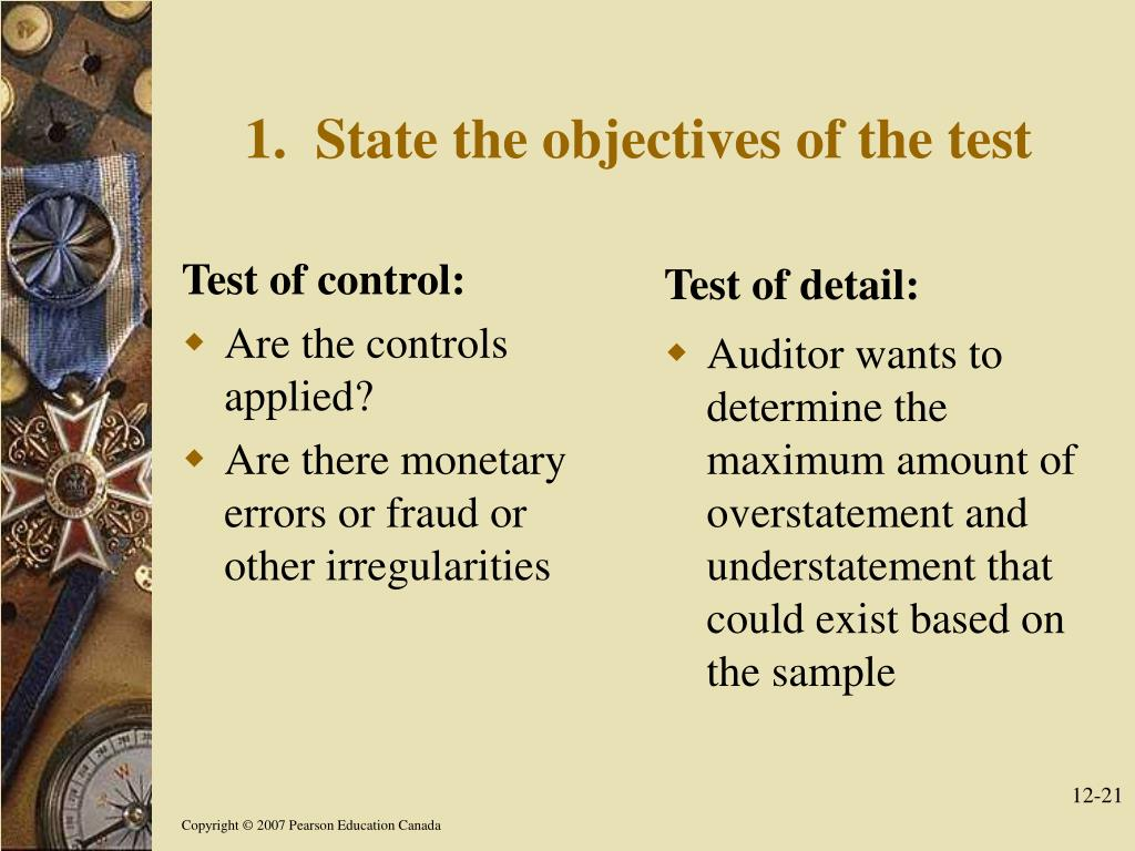 Test of control: