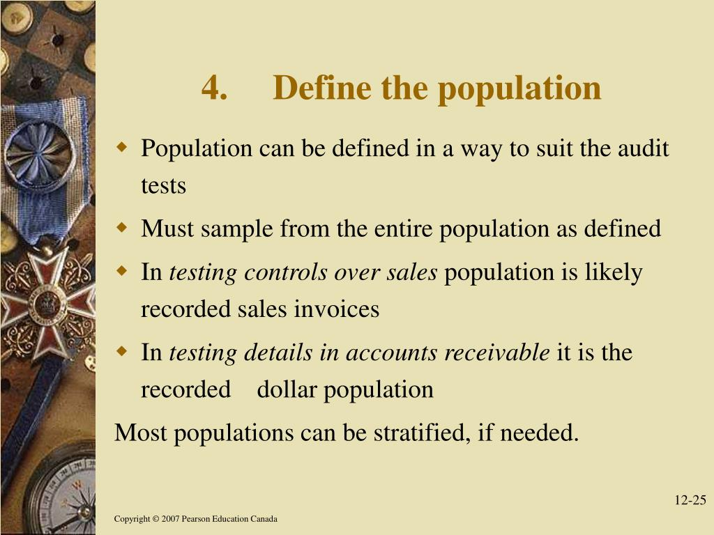 4.Define the population
