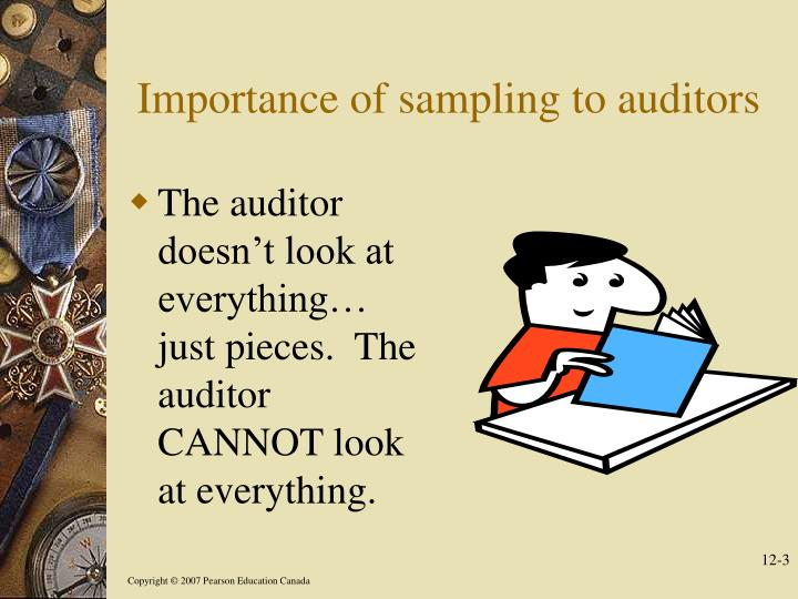 Importance of sampling to auditors
