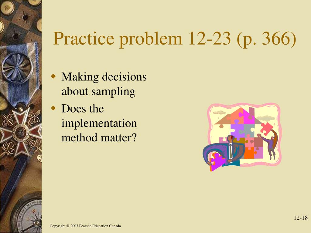Practice problem 12-23 (p. 366)