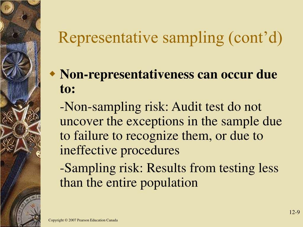 Representative sampling (cont'd)