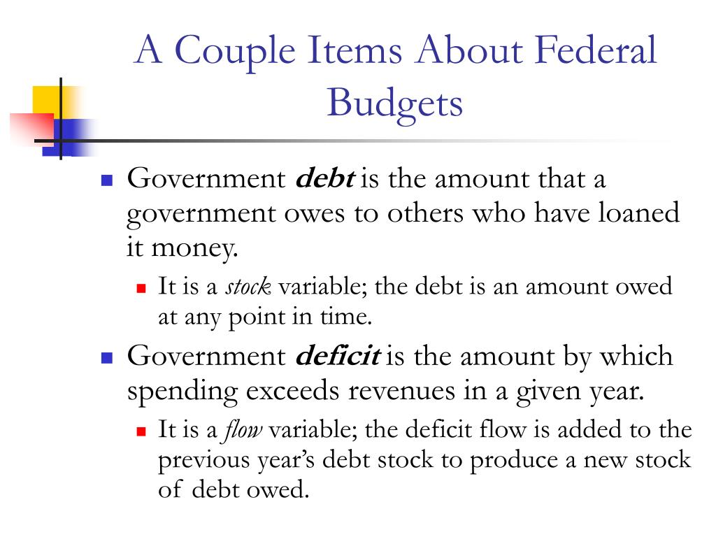 A Couple Items About Federal Budgets