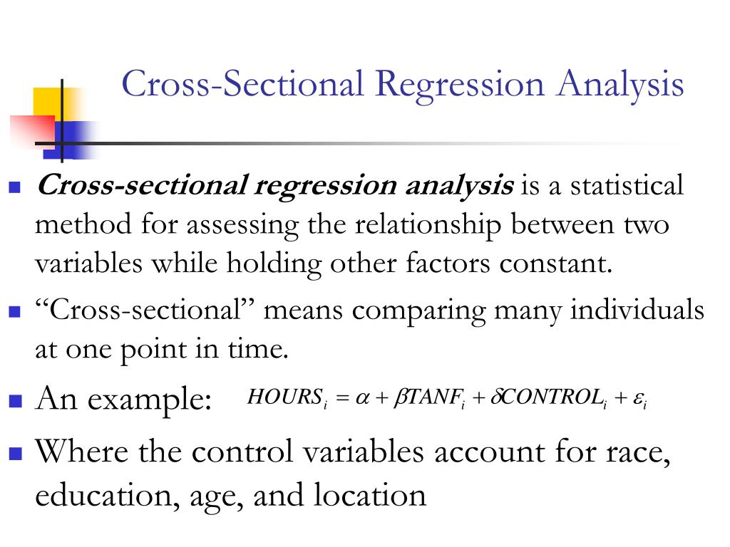 Cross-Sectional Regression Analysis