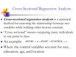 cross sectional regression analysis