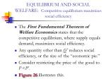 equilibrium and social welfare competitive equilibrium maximizes social efficiency