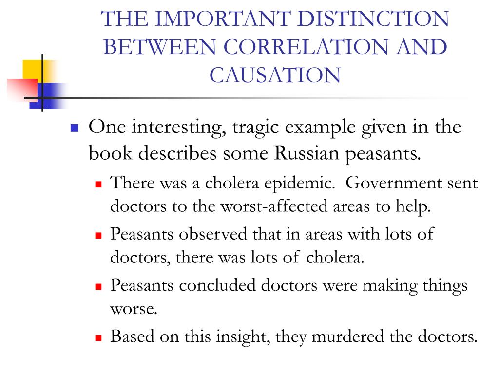 THE IMPORTANT DISTINCTION BETWEEN CORRELATION AND CAUSATION