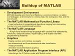 buildup of matlab