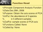 function head