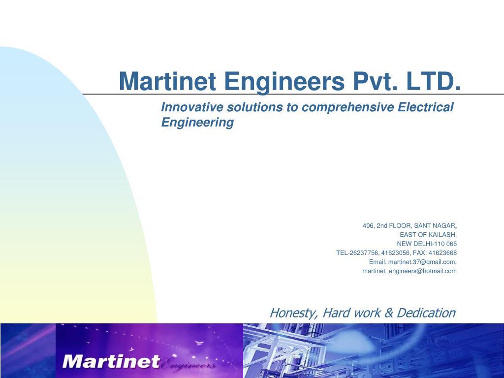 martinet engineers pvt ltd l.