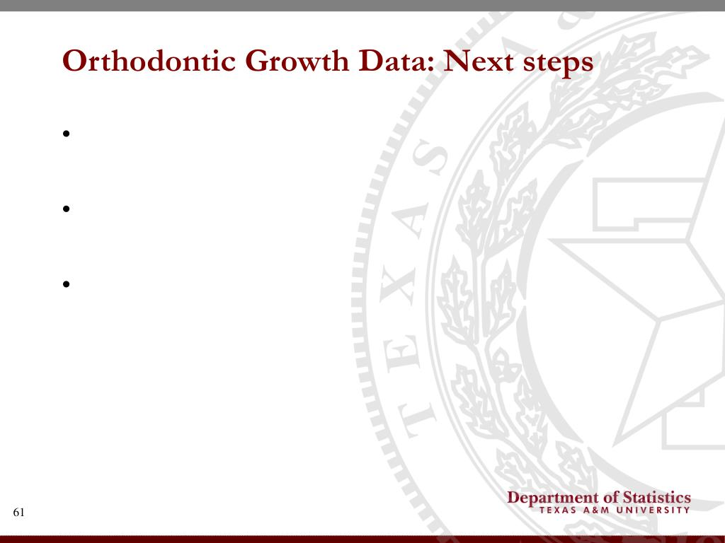 Orthodontic Growth Data: Next steps