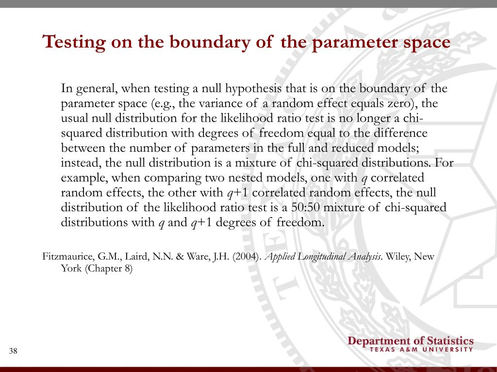 Testing on the boundary of the parameter space
