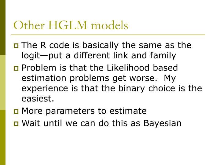 Other HGLM models