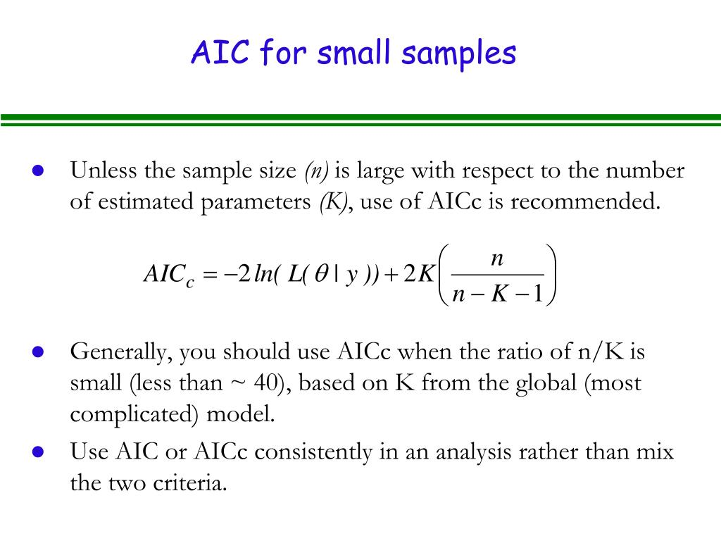 AIC for small samples