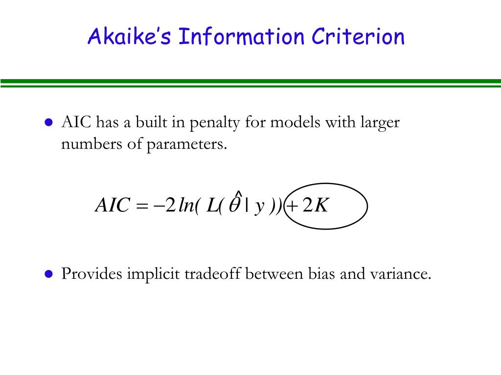 Akaike's Information Criterion
