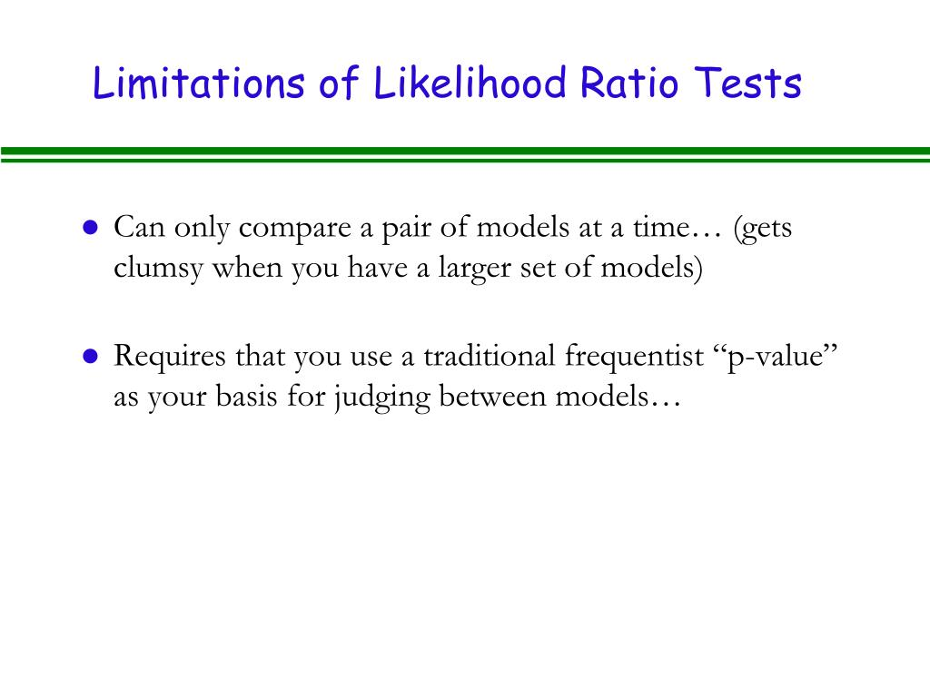 Limitations of Likelihood Ratio Tests