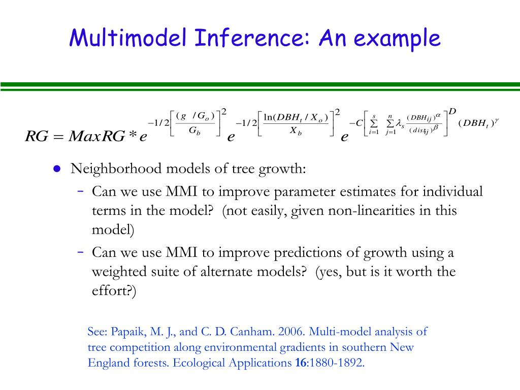 Multimodel Inference: An example