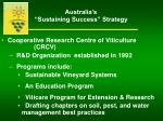 australia s sustaining success strategy