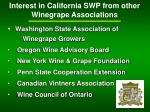 interest in california swp from other winegrape associations