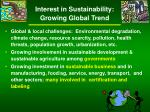 interest in sustainability growing global trend