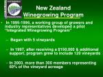 new zealand winegrowing program