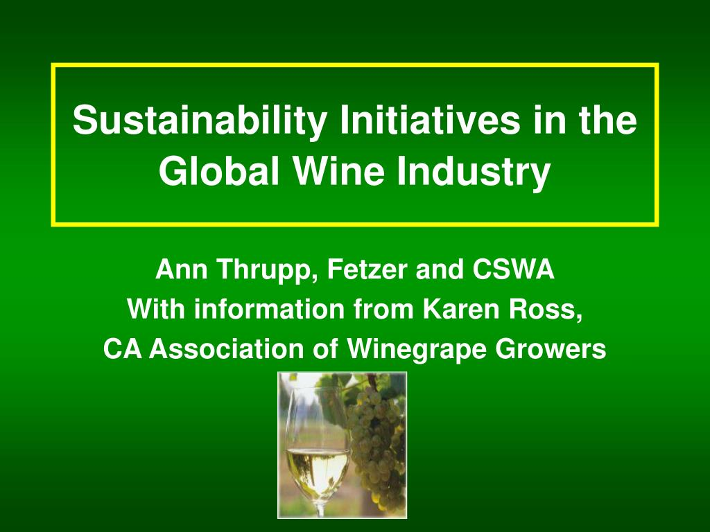 sustainability initiatives in the global wine industry l.