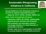 sustainable winegrowing initiatives in california