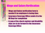 wage and salary verification