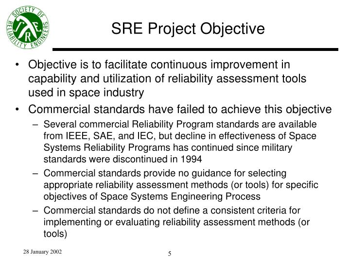 SRE Project Objective