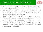 schools water toilets