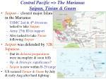 central pacific the marianas saipan tinian guam