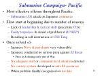 submarine campaign pacific