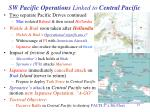 sw pacific operations linked to central pacific